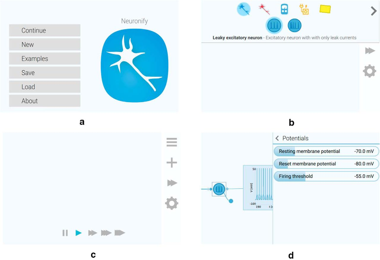Neuronify An Educational Simulator For Neural Circuits Eneuro This Is A Great Online Circuit Creator Download Figure